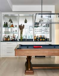 pool table with wet bar view full size