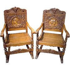 pair of antique renaissance style ornate walnut wood chairs check out renaissance fine jewelry