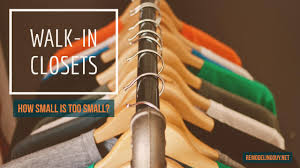 walk in closet dimensions how small is too small