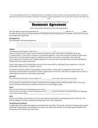 Roommate Rental Agreement Free Roommate Lease Agreement Form Business Template 15