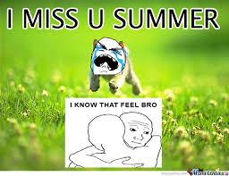 I Miss U Summer by wonzii - Meme Center via Relatably.com