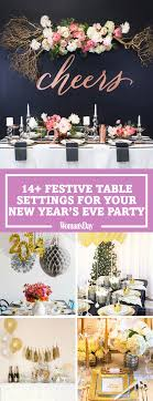 New Years Eve Table Decorations - Festive New Year's Dinner Party Decor