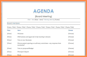 Meeting Agenda Word Template Classy Meeting Agenda Example Conference Call Format Sample Improve