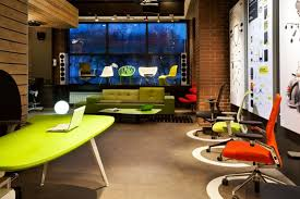 green office design. White Green Office Room Design