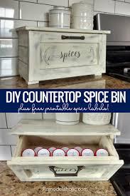 diy countertop e storage bin