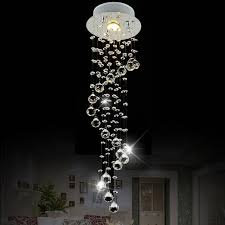 modern stairwell lighting. modern small spiral staircase lights crystal chandelier led restaurant long stairwell hanging wire lighting