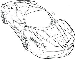 Ferrari Coloring Pages At Getdrawingscom Free For Personal Use