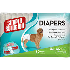 Simple Solution Disposable Female Dog Diapers Diapers, Multiple Sizes and
