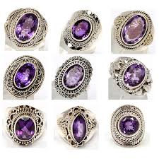 item amethyst silver gemstone rings 101 whole us 180 per lot of 9 rings we charge whole s rel in your market is much
