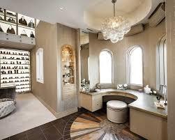 luxury walk in closet with shoe rack