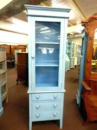 tall display cabinet white gloss cabinets with framed glass door doors track teak wall vintage pale