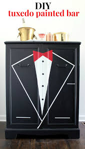 painting designs on furniture. DIY Tuxedo Bar | Learn How To Paint A Front Or Any Piece Of Furniture Painting Designs On