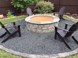 new fire pit installed in dallas