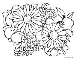 Coloring Pages Flowers Printable Printout Coloring Pages For Kids