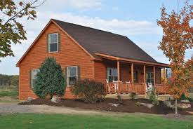 manufactured log homes vs our amish built log cabins