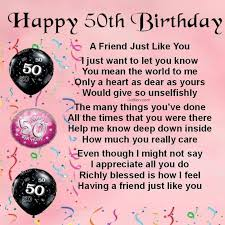 50th birthday poems for best friends