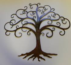 Small Picture Charming Natural Tree Of Life Metal Wall Art Decor Sculpture 31 X