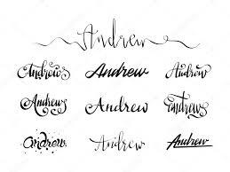 личное имя татуировки эндрю векторное изображение Andrewrybalko