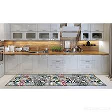 kitchen runner machine washable rug 52cm x 240 cm anti mite mat with non skid