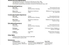 technical theatre resume templates technical theatre resume template template docs form templates