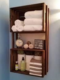 spa style crate shelf towel rack crate