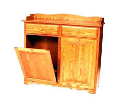 double wooden trash bin cabinet kitchen can storage wood plans kitc