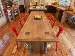 natural wood dining table especially green kitchen accent