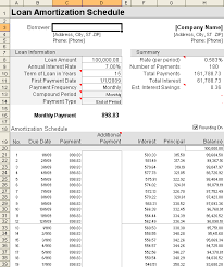 loan amortization spreadsheet template loan amortization schedule and calculator