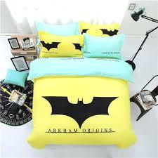 batman bed set home textile yellow batman bedding set cartoon cotton bed linen 3 duvet cover batman bed set