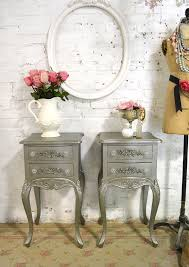shabby chic nightstand. Painted Cottage Chic Shabby Romantic French Night Table On Nightstand