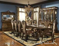 Furniture  Luxurious Formal Dining Room Tables That Made Of Solid Solid Wood Formal Dining Room Sets