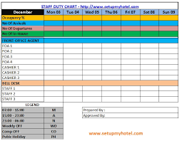 Housekeeping Department Functional Chart Image Result For Housekeeping Duty Roster Format Chart