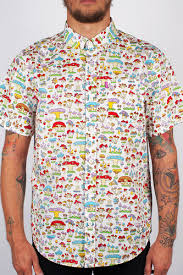 <b>Рубашка MISHKA</b> Boomers SS Button Up (White, S) | www.gt-a.ru