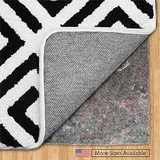 gorilla grip original felt rubber underside gripper area rug pad 9 x 12 made in usa extra thick for hardwood hard floors plush cushion support