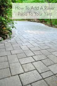 patio stones. DIY Paver Patio Add Base For Stones Using Pavers Paving