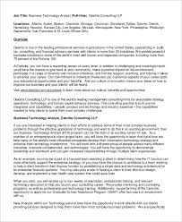 business technology analyst job description benefits analyst job description
