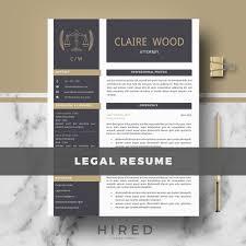 Legal Resume Templates Archives Hired Design Studio
