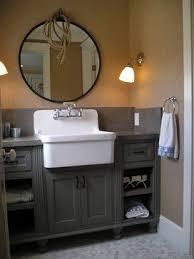 bathroom farm sink. For A Custom Bathroom Vanity Like This One Contact Seven Trees Woodworking LLC. Farm Sink Pinterest