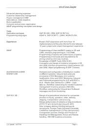 Sap Fico Sample Resume Sample Resume For Sap Fico Consultant Socialum Co