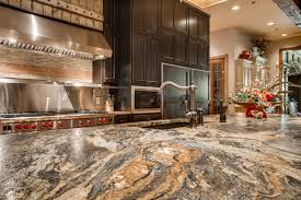 Granite In Kitchen Volcano Granite In A Leather Finish Makes This Rustic Chic Kitchen
