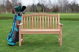 turnberry flat arm teak bench 2 seater 1 2m