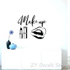 wall art for beauty salons salon wall decals beauty salon wall stickers makeup e wall decals wall art