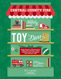 central county fire department ccfd toy drive toy drive flyer