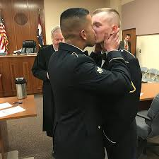 same sex couple smooches in intimate missouri wedding ceremony  same sex couple smooches in intimate missouri wedding ceremony com