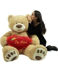 Te Amo Giant Teddy Bear 5 Foot Soft Teddybear Romantic Holds Heart Pillow to Show Love Winter\u0027s Hottest Sales on