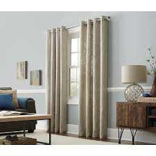 allen roth amesmore 63 in linen polyester grommet light filtering single curtain panel