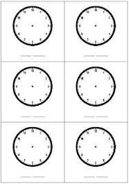 Math Worksheets Blank Clocks#390891 - Myscres