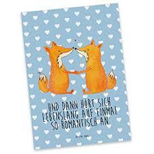 Mr Mrs Panda Postkarte Füchse Liebe Fuchs Füchse Fox Liebe