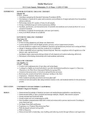 Chemist Resume Sample Organic Chemist Resume Samples Velvet Jobs 2