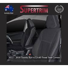 seat covers front pair console lid cover snug fit for toyota rav4 xa40 2016 2018 premium neoprene automotive grade 100 waterproof